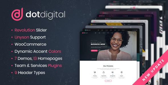 DotDigital – Web Design Agency WordPress Theme