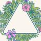 Tropical Flower Frame - GraphicRiver Item for Sale