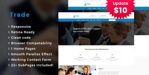 Trade - Business Consulting and Professional Services HTML Template