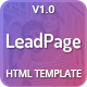 LeadPage - Multipurpose Marketing HTML Landing Page Template - ThemeForest Item for Sale
