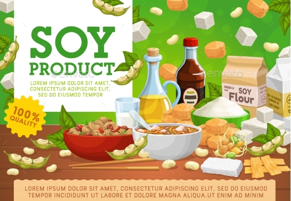 Soy Products Organic Soybean Vegan Food