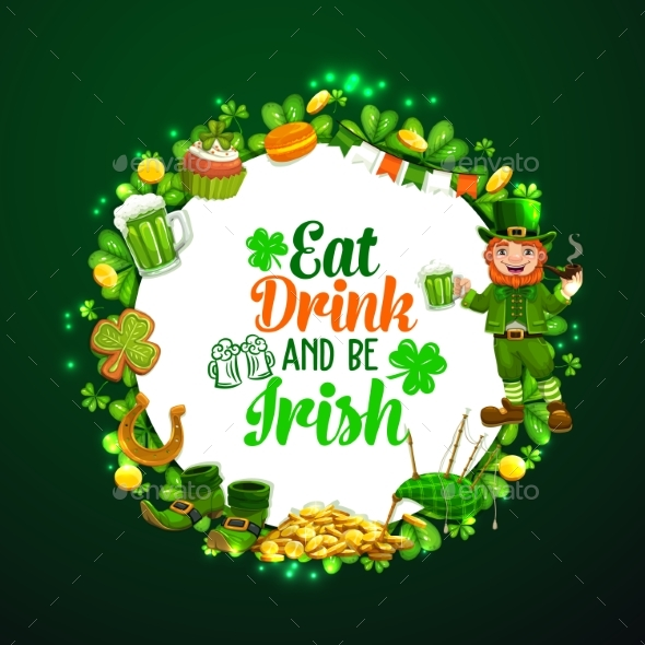 Saint Patricks Day Signs of Luck Frame