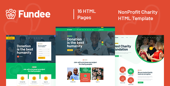 Fundee - NonProfit Charity HTML5 Template