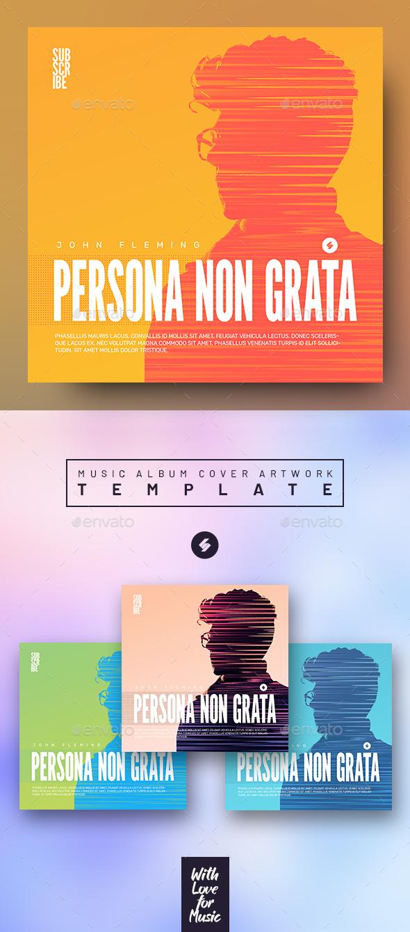 Persona Non Grata - Music Album Cover Artwork Template