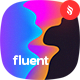 Fluent - Gradient Holographic Waves Backgrounds Pack - GraphicRiver Item for Sale