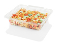 multicolored candy in a disposable plastic container isolated on awhite with clipping path - PhotoDune Item for Sale