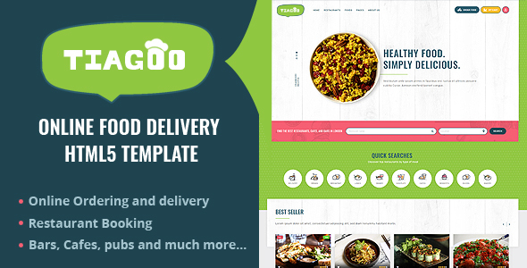 Tiagoo - Online Food Delivery Html Template