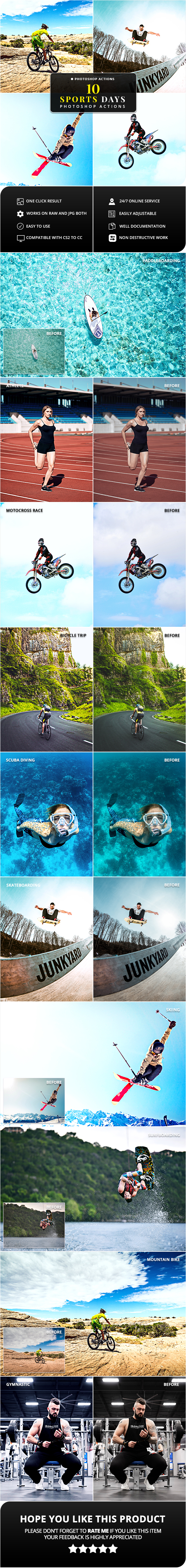 10 Sport Days Photoshop Actions