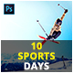 10 Sports Days Photoshop Actions - GraphicRiver Item for Sale