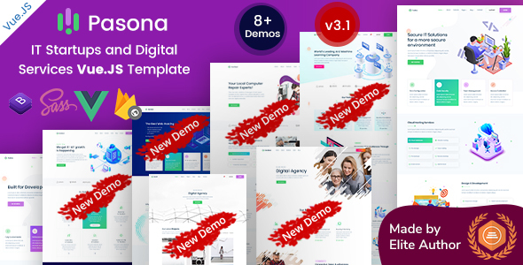 Pasona - Vuejs MultiPurpose Startup Business Template
