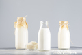 Vegan rice plant based milk in bottles - PhotoDune Item for Sale