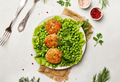 Fish cutlets from cod with garnish - PhotoDune Item for Sale