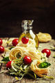 pasta with cherry tomatoes, olive oil and green basil - PhotoDune Item for Sale
