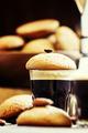 Espresso coffee, amaretti biscuits with almonds - PhotoDune Item for Sale