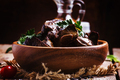 Braised turkey liver in a bowl - PhotoDune Item for Sale