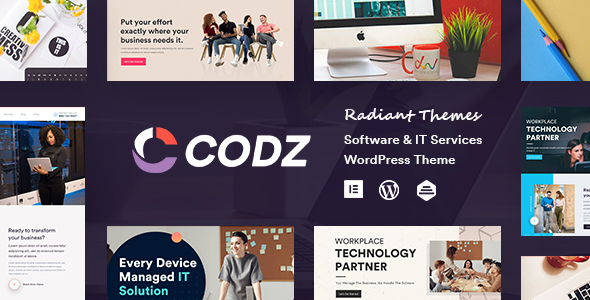 Codz – Software & IT Services Theme Preview