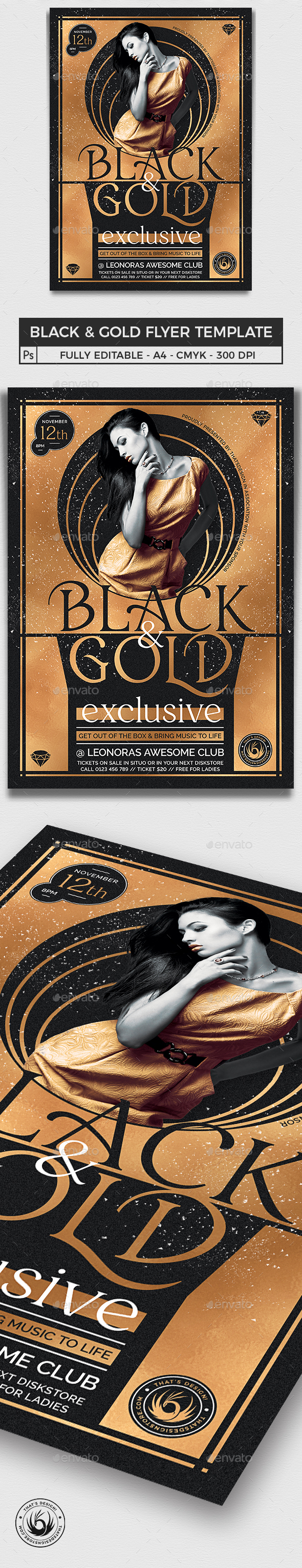 Black and Gold Flyer Template V20