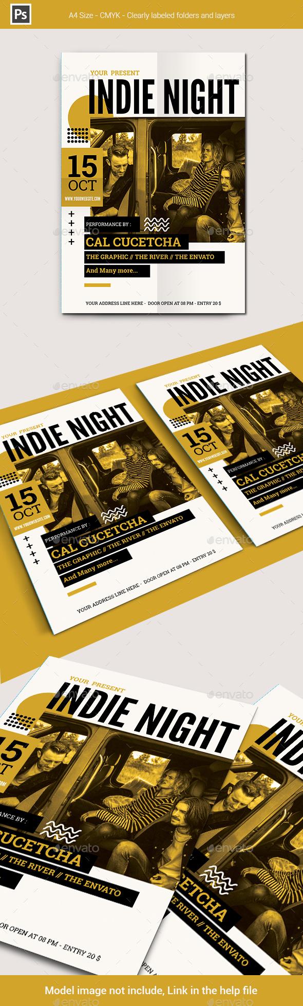 Indie Night Flyer Template
