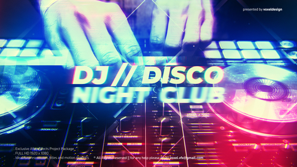 DJ Disco Night Club Intro