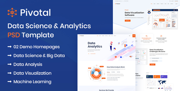 Pivotal - Data Science & Analytics PSD Template