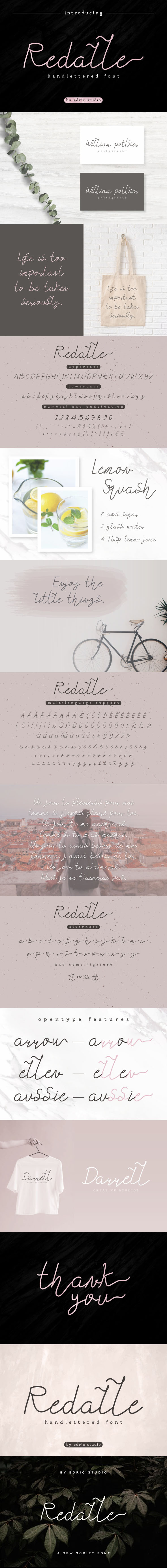 Redalle Monoline Font