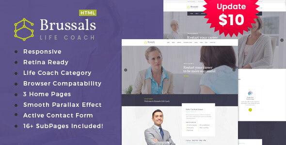 Brussals - Personal Development Coach HTML Template