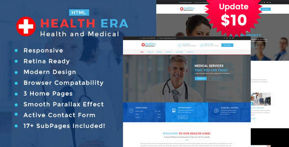Health Era - Medical HTML Template