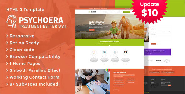 Psychoera - Treatment and Health HTML Template