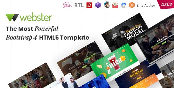 Webster – Responsive Multi-purpose HTML5 Template