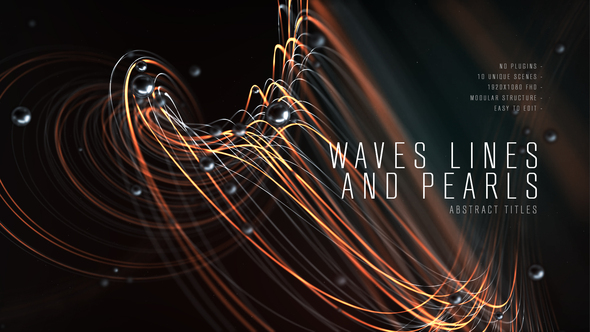 Abstract Titles | Wave Lines and Pearls