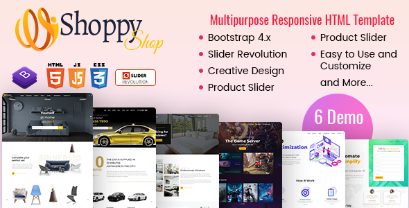 Download Shoppy – eCommerce HTML Template Nulled