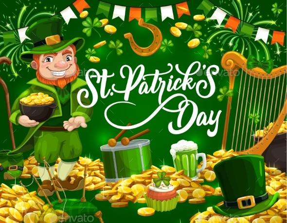Patricks Day Leprechaun, Shamrock