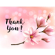 Thank You Background with Pink Magnolias Vector - GraphicRiver Item for Sale
