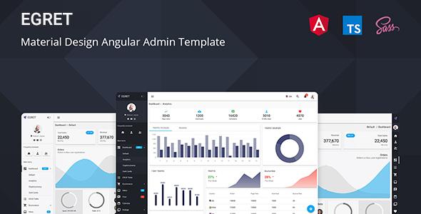 Egret - Angular 9+ Material Design Admin Template
