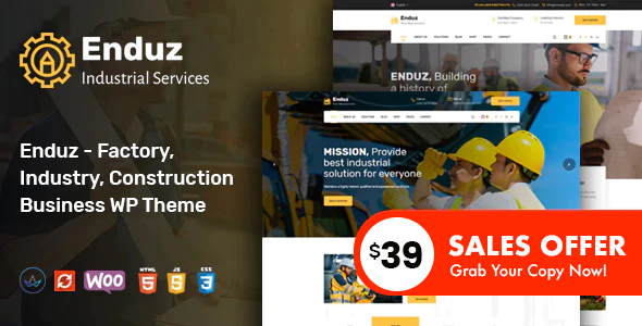 Enduz - Factory and Industry WordPress Theme