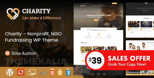 Charity - Nonprofit and Fundraising WordPress Theme