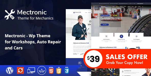 Mectronic - WordPress Theme for Car Repair Center