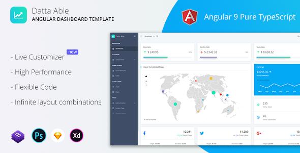 Datta Able - Angular 9 Admin Template