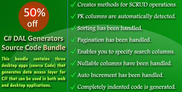 C# DAL Generators Source Code Bundle
