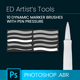 10 Dynamic Marker Brushes - GraphicRiver Item for Sale