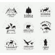 Outdoor Vector Emblems Set of Wilderness Quotes - GraphicRiver Item for Sale