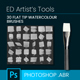 30 Flat Tip Watercolour Brushes - GraphicRiver Item for Sale