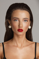 Gorgeous woman with Hollywood makeup. Stunning model with bright red lips - PhotoDune Item for Sale