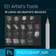18 large HB Graphite Pencil Brushes - Scribbles & Hatching - GraphicRiver Item for Sale