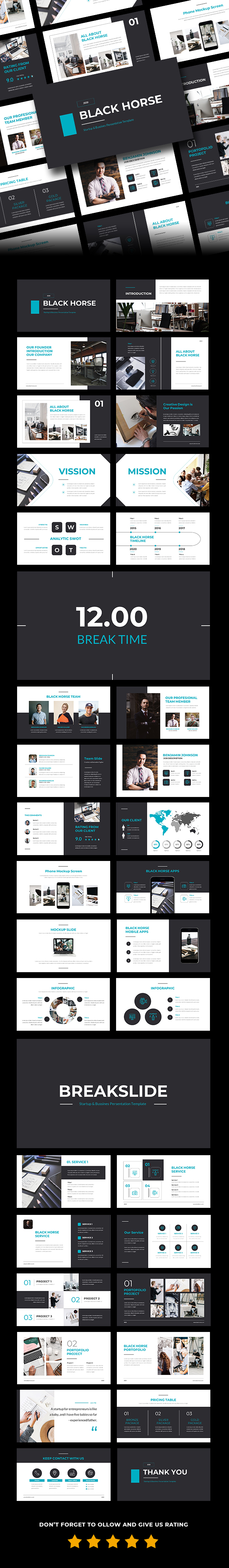 BlackHorse - Startup & Bussines PowerPoint Template