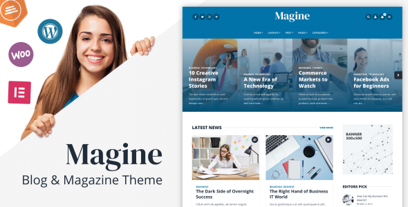 Magine - Business Blog WordPress Theme