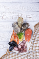 Set of various seafood in plate - PhotoDune Item for Sale