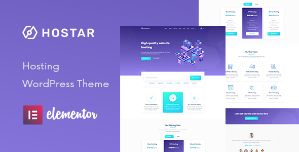 Hostar - Web Hosting WordPress Theme