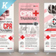 CPR Training Roll-up Banner Templates - GraphicRiver Item for Sale