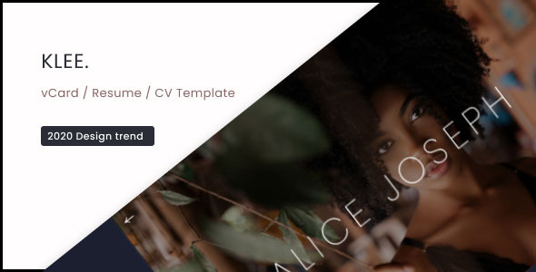 Klee - vCard / Resume / CV Template 1